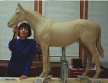 Jan in her studio with Sir Barton